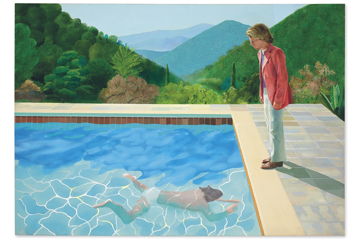 9.	Portrait of an artist par David Hockney
