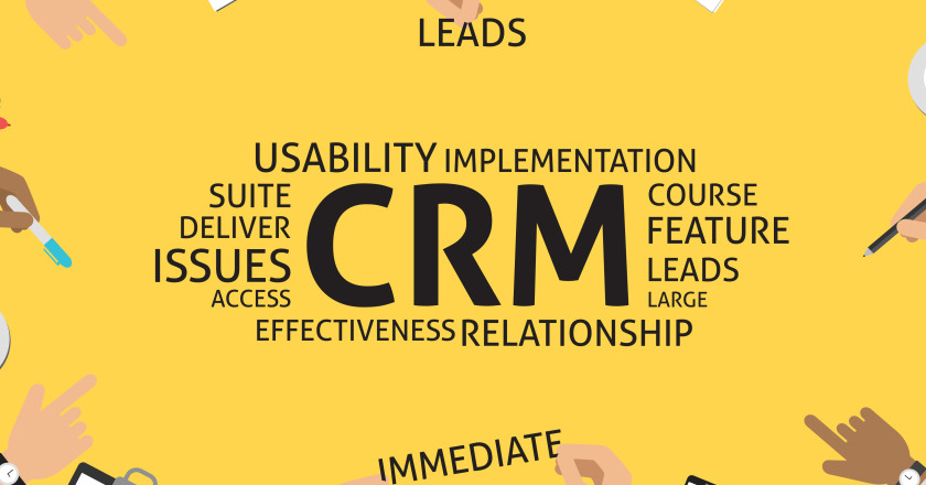 vector CRM concept,template